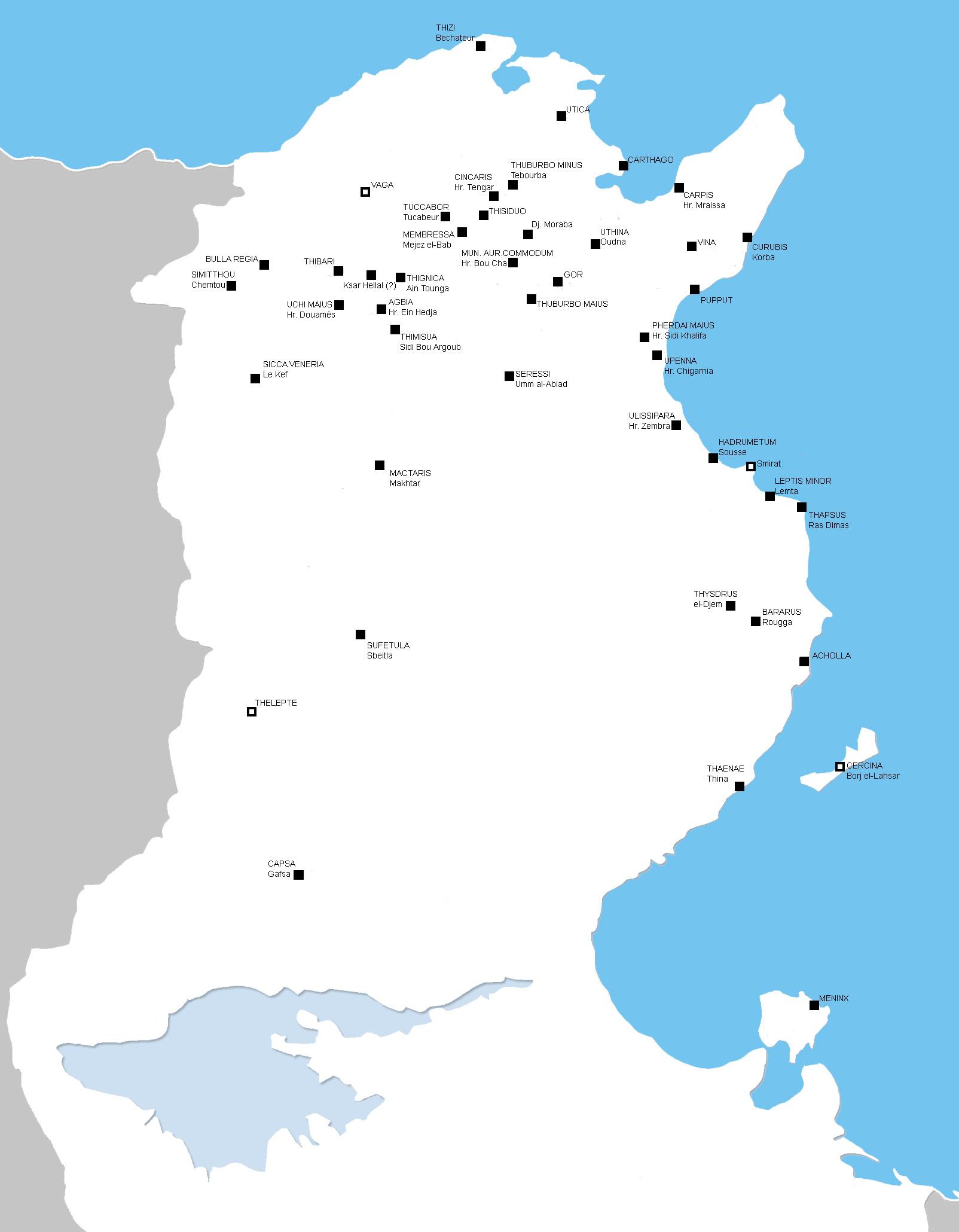 Tunesien Karte.Tunesien